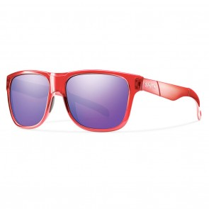 Smith Lowdown Crystal Red / Purple Sol-X Mirror Sunglasses