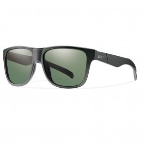 Smith LOWDOWN Matte Black / Polarized Grey Green Sunglasses