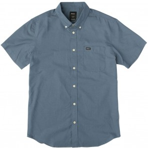RVCA That'll Do Oxford Short Sleeve Mens Shirt - Blue Slate