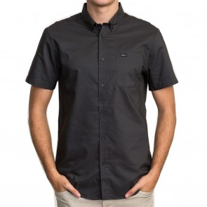 RVCA That'll Do Oxford Short Sleeve Mens Shirt - Pirate Black