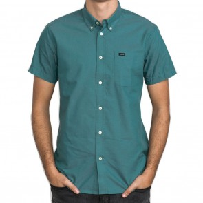 RVCA That'll Do Oxford Short Sleeve Mens Shirt - Teal Green