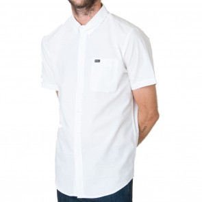 RVCA That'll Do Oxford Short Sleeve Mens Shirt - White