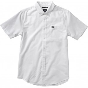 RVCA That'll Do Oxford White Short Sleeve Mens Shirt