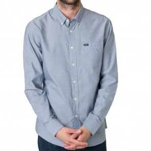RVCA That'll Do Oxford Mens Shirt - Distant Blue