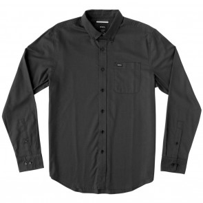 RVCA That'll Do Oxford Long Sleeve Mens Shirt Pirate Black