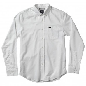 RVCA That'll Do Oxford Long Sleeve Mens Shirt - White