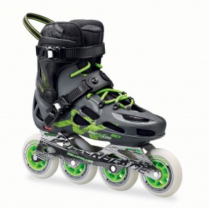 Rollerblade Maxxum 90 Inline Skates Anthracite and Green