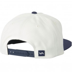 RVCA Commonwealth II Snapback Hat - White With Navy