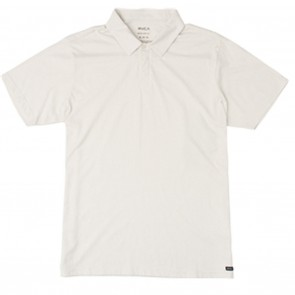 RVCA Sure Thing II Silver Bleach Mens Polo Shirt