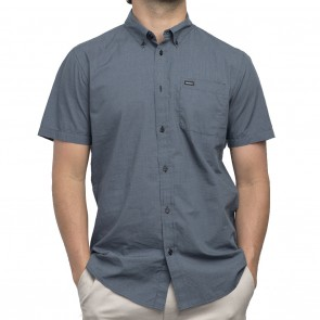 RVCA That'll Do Micro Short Sleeve Mens Shirt - Federal Blue