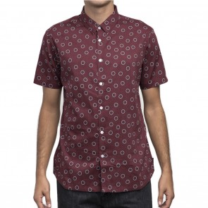 RVCA Ring Short Sleeve Mens Shirt - Tawny Port
