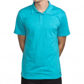 RVCA Sure Thing II Polo Shirt - Blue Jay