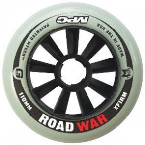 MPC Road War Black Outdoor Inline Wheels (X Firm) - 110mm