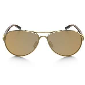 Oakley TIE BREAKER Matte Gold Bronze Polarized Sunglasses