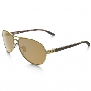 Oakley TIE BREAKER Matte Gold with Bronze Polarized Sunglasses