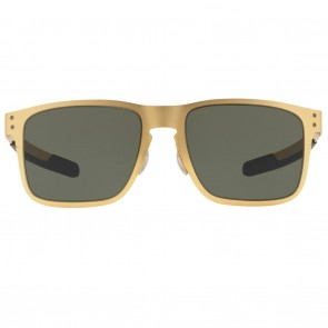 Oakley HOLBROOK METAL Satin Gold Dark Grey Sunglasses