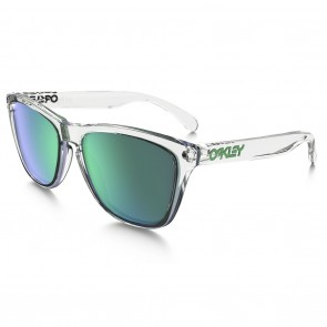Oakley FROGSKINS CRYSTAL COLLECTION Polished Clear Jade Iridium Sunglasses