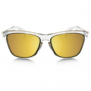 Oakley FROGSKINS CRYSTAL COLLECTION Polished Clear 24K Iridium Sunglasses