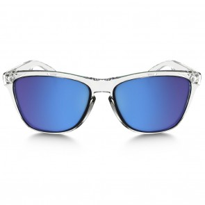 Oakley FROGSKINS CRYSTAL COLLECTION Polished Clear Sapphire Iridium Sunglasses