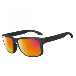 Oakley HOLBROOK Matte Black / Ruby Iridium Polarized Sunglasses
