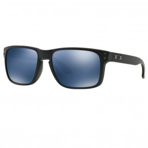 Oakley HOLBROOK Sunglasses Matte Black / Ice Iridium Polarized Lens