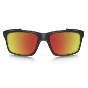 Oakley MAINLINK Matte Black Ruby Iridium Polarized Sunglasses