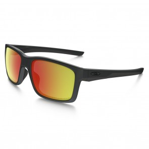 Oakley MAINLINK Sunglasses - Matte Black / Ruby Iridium Polarized