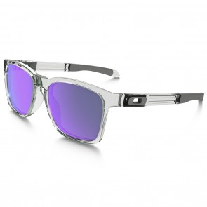 Oakley CATALYST Polished Clear / Violet Iridium Sunglasses