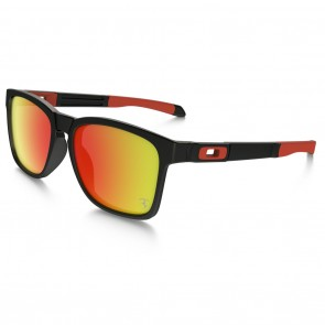 Oakley CATALYST SCUDERIA FERRARI Matte Black / Ruby Iridium Sunglasses
