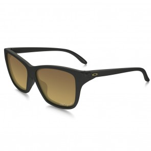 Oakley HOLD ON Matte Black with Brown Gradient Polarized Sunglasses