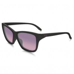 Oakley HOLD ON Polished Black with Rose Gradient Polarized Sunglasses