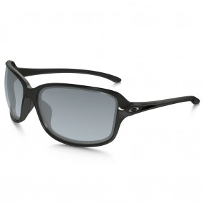 Oakley COHORT Polished Black Grey Gradient Polarized Sunglasses