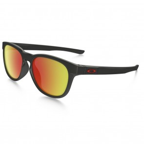 Oakley STRINGER Sunglasses - Matte Black / Ruby Iridium