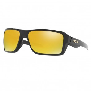 Oakley DOUBLE EDGE Polished Black 24K Iridium Sunglasses
