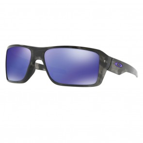 Oakley DOUBLE EDGE Matte Black Tortoise Violet Iridium Sunglasses