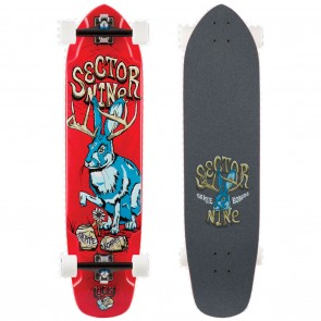 "Sector 9 Mini Daisy (37.5"" x 9.125"") Red Longboard Complete"