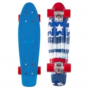 """Penny 22"""" Patriot - Red / White / Blue Complete Skateboard"""