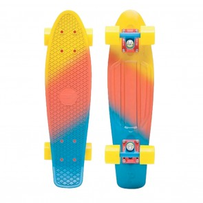"""Penny Canary Fade 22"""" Yellow / Red / Blue Complete Skateboard"""
