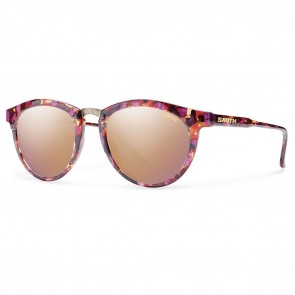 Smith QUESTA Flecked Mulberry Tortoise Rose Gold Mirror Sunglasses