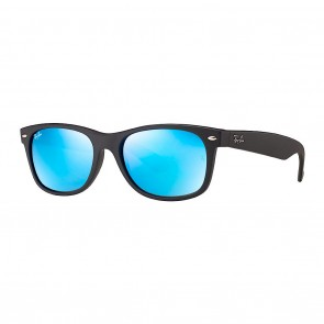 Ray-Ban RB2132 NEW WAYFARER FLASH 55mm Sunglasses in Black w/ Blue Flash