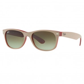 Ray-Ban RB2132 NEW WAYFARER 58mm Matte Beige Green Gradient Sunglasses