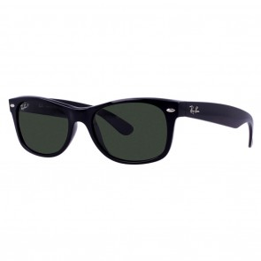 Ray-Ban RB2132 NEW WAYFARER 58mm Black Green Classic G-15 Polarized Sunglasses