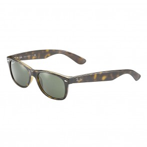 Ray-Ban RB2132 NEW WAYFARER 55mm Tortoise / Green Polarized Sunglass