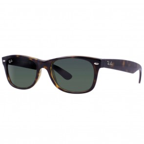 Ray-Ban RB2132 NEW WAYFARER 58mm Tortoise / Green Classic G-15 Sunglasses