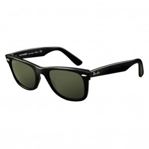 Ray-Ban RB2140 ORIGINAL WAYFARER 50mm Black / Crystal Green Sunglasses