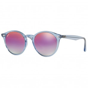 Ray-Ban RB2180F 49mm Light Blue Violet Gradient Mirror Sunglasses