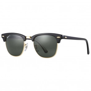 Ray-Ban RB3016 CLUBMASTER CLASSIC 49mm Black / Green Classic G-15 Polarized Sunglasses