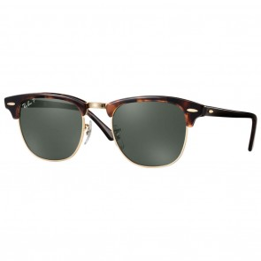 Ray-Ban RB3016 CLUBMASTER CLASSIC 49mm Red Havana / Green Classic G-15 Polarized Sunglasses