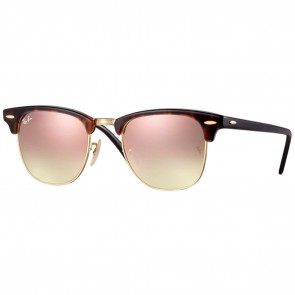 Ray-Ban RB3016 CLUBMASTER Sunglasses - Tortoise-Gold Bronze Mirror
