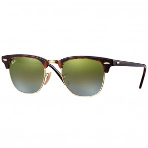 Ray-Ban RB3016 CLUBMASTER Sunglasses - Tortoise-Gold Green Gradient Flash